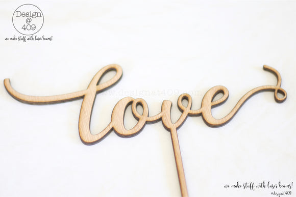 Love Cake Topper / Style #12  (other colour choices available)