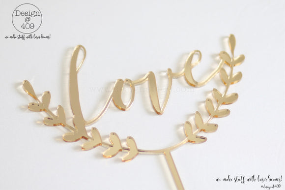 Love Cake Topper / Style #6  (other colour choices available)