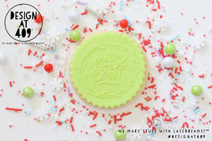Merry And Bright 4 Raised Acrylic Fondant Stamp
