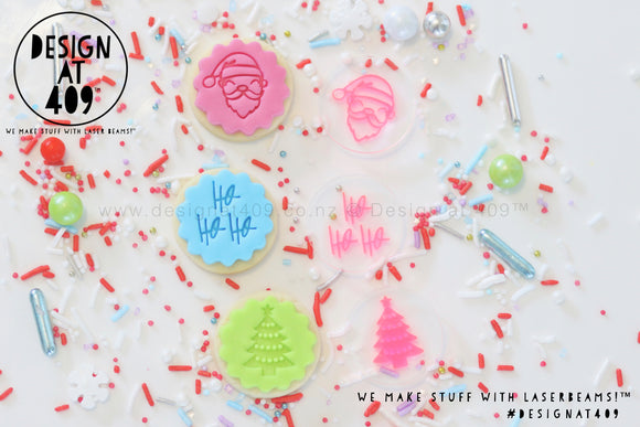 Mini Christmas Set 4 Acrylic Embosser Stamp