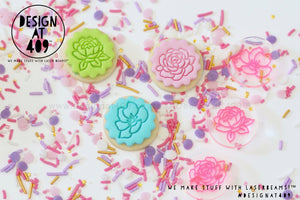 Mini Floral Set Acrylic Embosser Stamp