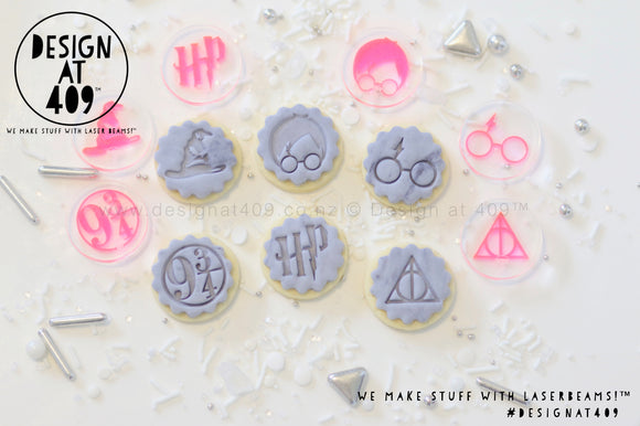 Mini HP Set Acrylic Embosser Stamp