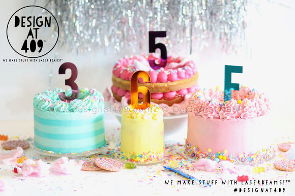 Mirror Number Cake Topper