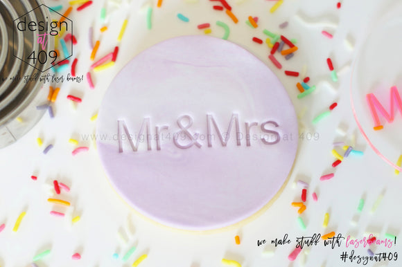 Mr & Mrs 2 Acrylic Embosser Stamp