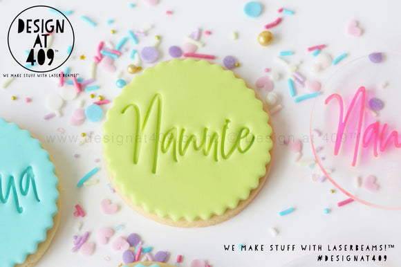 Nannie Acrylic Embosser Stamp