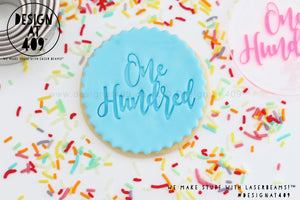 One Hundred 2 Acrylic Embosser Stamp