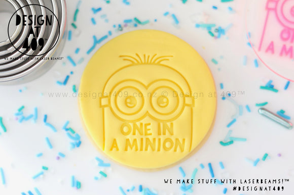 One In A Minion Acrylic Embosser Stamp