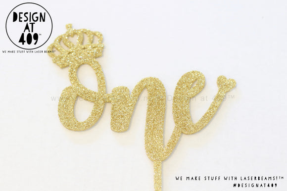 One Cake Topper / Style #7  (other colour choices available)