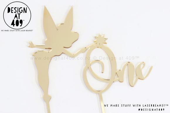 Fairy One Cake Topper (colour choices)