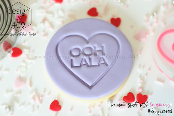 Ooh Lala Candy Heart Acrylic Embosser Stamp