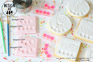 Palette Dot Acrylic Embossing Cookie Stamp (For Paint Your Own Cookies)
