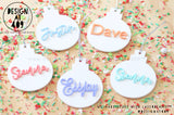 Pastel Name Acrylic Baubles