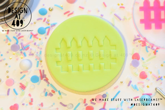 Picket Fence Acrylic Embosser Stamp