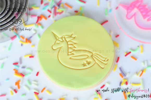 Pool Unicorn Acrylic Embosser Stamp