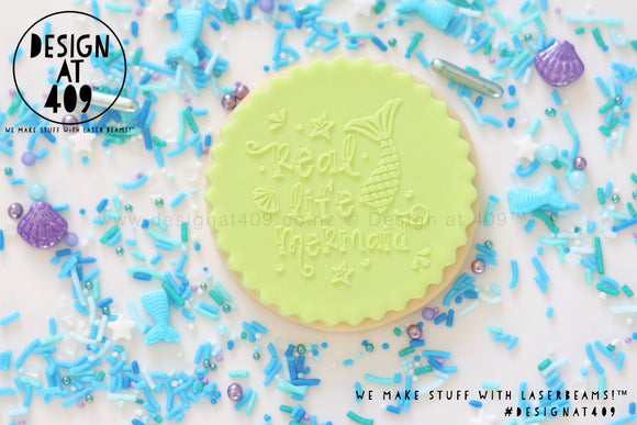 Real Life Mermaid Raised Acrylic Fondant Stamp
