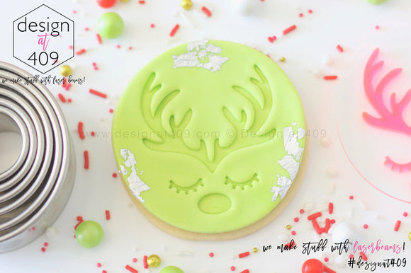 Reindeer Antlers/Lashes/Nose Acrylic Embosser Stamp