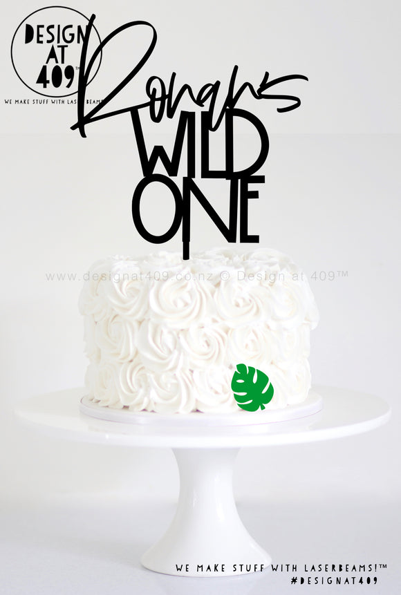 Custom Name Wild One Cake Topper (colour choices)