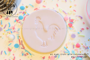 Rooster Acrylic Embosser Stamp