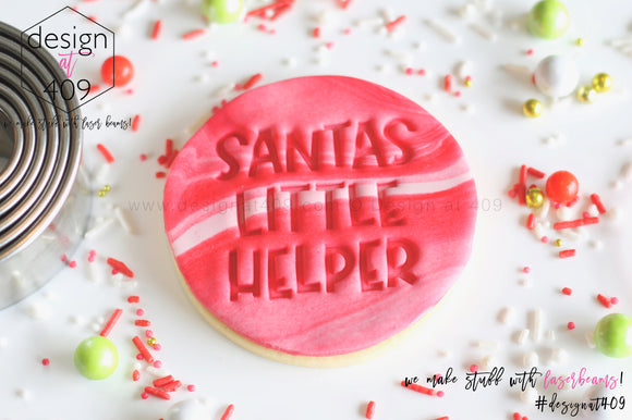 Santas Little Helper Acrylic Embosser Stamp
