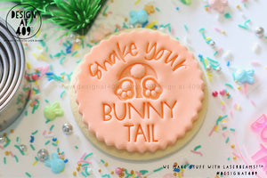 Shake Your Bunny Tail Acrylic Embosser Stamp