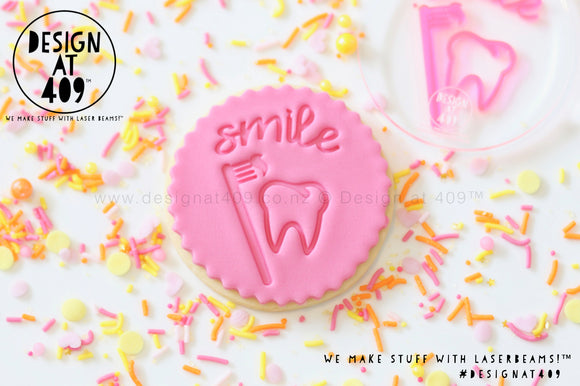 Smile Tooth Acrylic Embosser Stamp