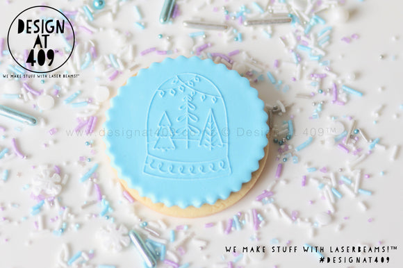 Snow Globe Raised Acrylic Fondant Stamp