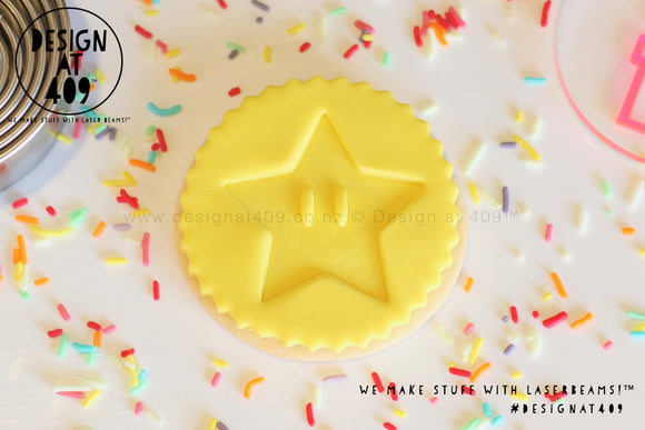 Super Star Acrylic Fondant Embosser Cookie Stamp / Design at 409