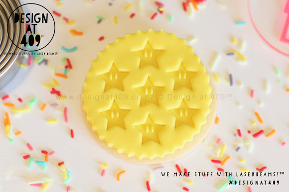 Super Stars Acrylic Fondant Embosser Cookie Stamp / Design at 409