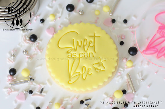 Sweet As Can Bee 1 Acrylic Embosser Stamp