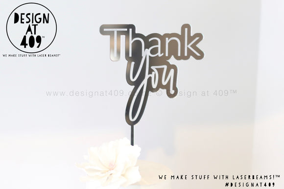 Thank You Bubble Cake Topper / Style #2  (other colour choices available)