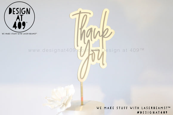 Thank You Bubble Cake Topper / Style #1  (other colour choices available)