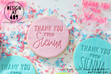 Thank You From Custom Name Acrylic Embosser Stamp