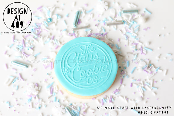 The Claus Cookie Co Raised Acrylic Fondant Stamp