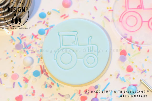 Tractor Acrylic Embosser Stamp