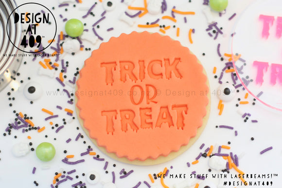 Trick Or Treat 2 Acrylic Embosser Stamp
