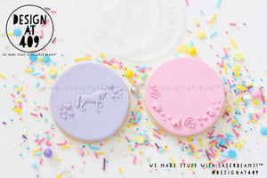 Unicorn Set 2 Acrylic Stencil Stamps
