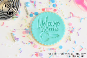 Welcome Home With Key Acrylic Embosser Stamp