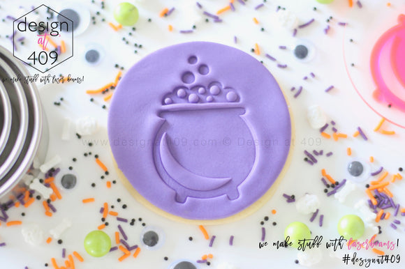 Witches Cauldron Acrylic Embosser Stamp