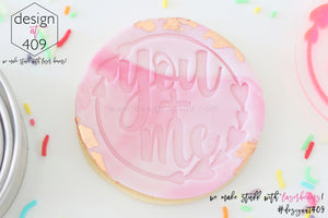 You + Me In Heart Wreath Acrylic Embosser Stamp