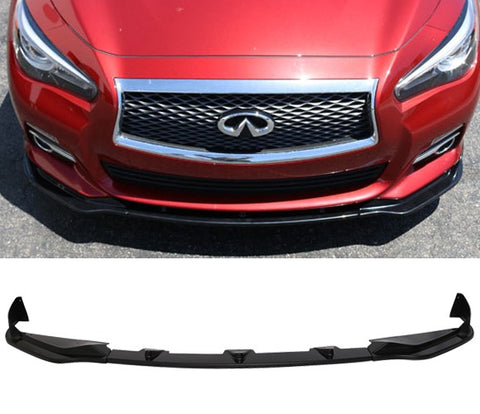 14-17 Infiniti Q50 Base Model Front Bumper Lip Splitter - ABS