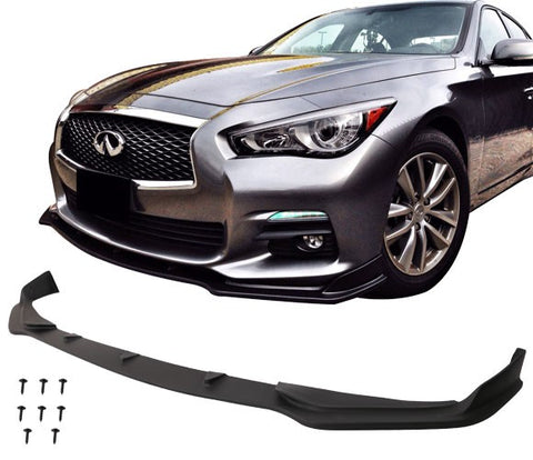 For 14-17 Infiniti Q50 Base Model Front Bumper Lip Spoiler - PU