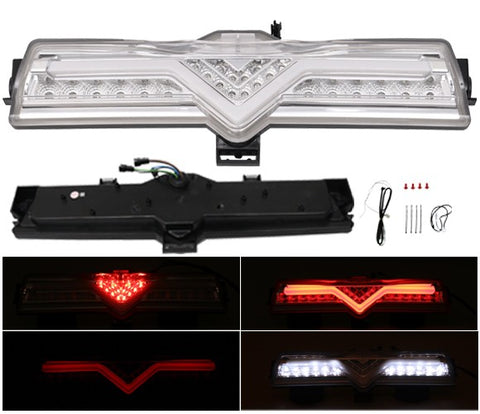 Clear LED Rear Bumper Backup Reverse Light 3rd Brake Fog Light Lamp For FRS BRZ