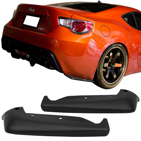 Fits 13-18 Scion FRS Subaru BRZ CS Style Bottom Line Rear Aprons Valances Lip
