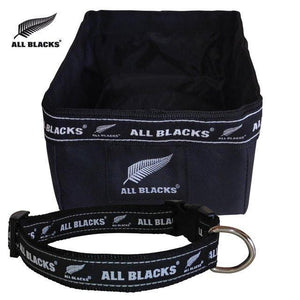 All Blacks Gift Set - Collar, Bowl & ID Tag