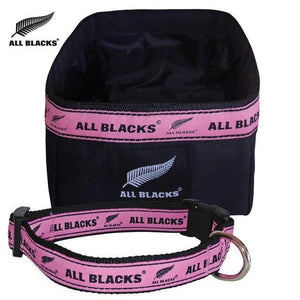 All Blacks® Suppawter Set - Dog Collar, Bowl & ID Tag