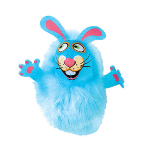 Fluffy Bunnies cat toy blue