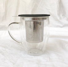 Load image into Gallery viewer, Double Walled Glass Infuser Mug