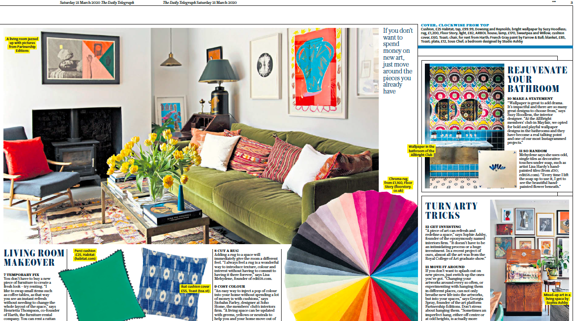 Sunday Telegraph | Tips to Refresh Your Home | Partnership Editions