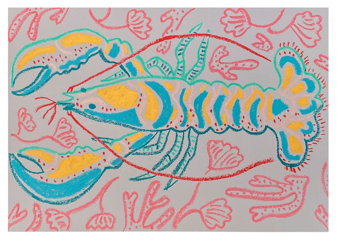 Lobster Study VI | Camilla Perkins | Original Artwork | Partnership Editions