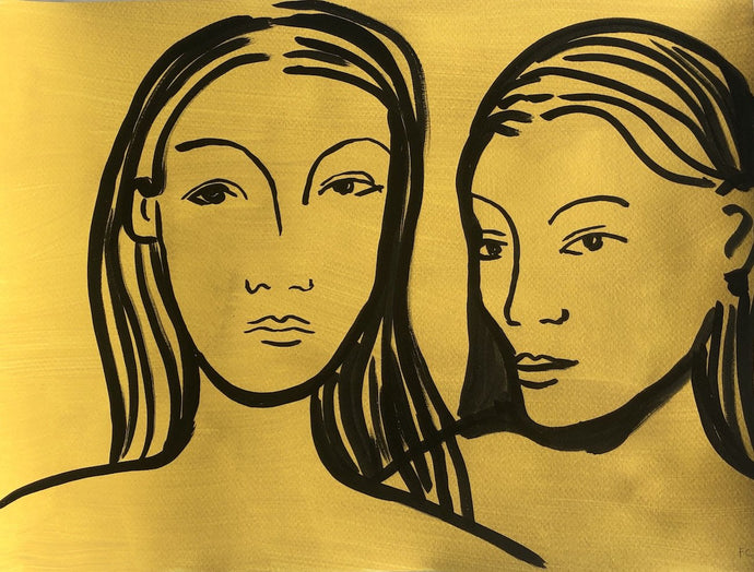After Gauguin: Two Women | Frances Costelloe | Original Artwork | Partnership Editions